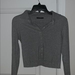 Cropped buttoned turtle neck brandy Melville top